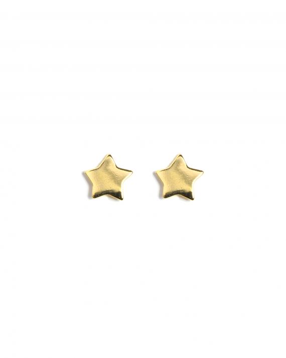 Boucles d'oreilles petites étoiles plaqué or création tendance femme - Madame Vedette