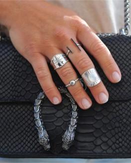 Bague large en argent 925 pour femme - Créateur bijoux fantaisie - Madame Vedette