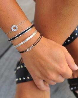 Bracelet  tendance en argent 925 pour femme - Bijoux créateurs fantaisie - Madame Vedette