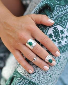 Bague fantaisie argent 925 pierre couleur - Bijoux tendances - Madame Vedette