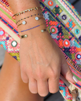 Inspiration composition bracelets fins plaqué or 18k pour femme - Bijoux fantaisie tendances - Madame Vedette