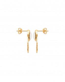 Nouveauté boucles d'oreilles plaqué or tendances pierres de lune - Atelier bijoux fantaisie - Madame Vedette