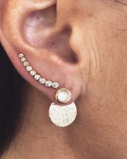Boucles d'oeilles lobes plaqué or pour femme - Atelier création bijoux Madame Vedette