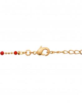 Collier plaqué or 18k perles émail - Atelier bijoux Madame Vedette