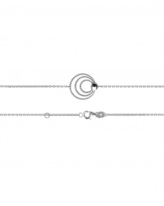 Bracelet chaine fine argent 925 motifs satellites - Atelier création bijoux - Madame Vedette