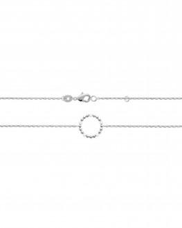 Bracelet fantaisie argent 925 perles email blanc - Atelier Madame Vedette