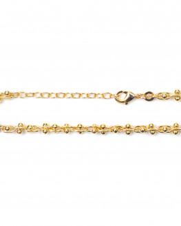 Bracelet création plaqué or 18k pour femme - Atelier bijoux Madame Vedette