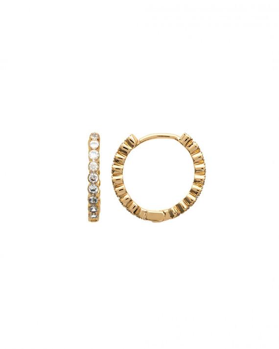 Petites boucles créoles avec brillants zircon - Atelier bijoux Madame Vedette