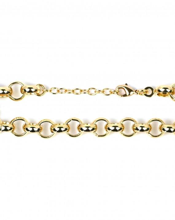 Bracelet plaqué or maille ronde - Atelier bijoux Madame Vedette