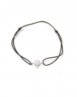 Bracelet cordon étoile argent 925 brillants zircon pour femme - bijoux créateur Madame Vedette