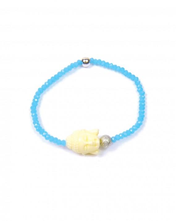 Bracelet perles couleur tête bouddha - Bijoux faits main Madame Vedette