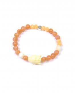 Création bracelet perles tête bouddha - Bijoux faits main - Madame Vedette