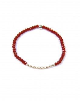 Création bracelet perles barrette argent 925 femme - Bijoux tendance Madame Vedette