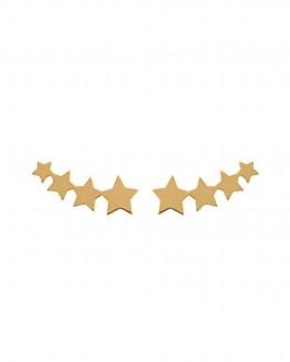 Boucles d'oreilles plaqué or constellation étoiles femme - Bijoux tendance Madame Vedette