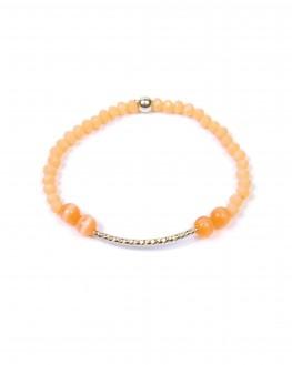 Bracelet combinaison perles et barrette argent 925 femme - Création bijoux Madame Vedette