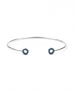 Top tendance bracelet femme jonc ouvert argent 925 cercles turquoises - Bijoux de créateur - Madame Vedette