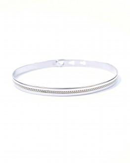 Nouveauté bracelet femme jonc cadenas ruban en argent 925 - Bijoux de créateur - Madame Vedette