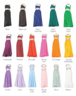 Personnalisez votre bijou argent 925 pompon couleur - Créateur Madame Vedette