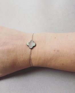 Bracelet chaîne argent 925 collection nacre femme - Bijoux créateur Madame Vedette