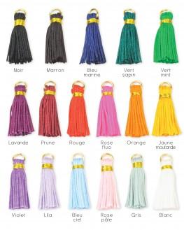 Pompon de couleur bijoux à personnaliser - Madame Vedette