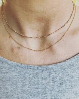 Collier chaîne plaqué or à personnaliser femme - Bijoux Madame Vedette