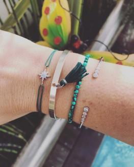 Composition bracelet cordon étoile femme - Bijoux créateur Madame Vedette