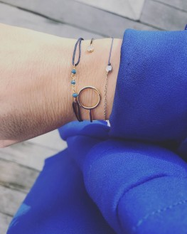 Acheter bracelet cordon chaîne plaqué or femme - Madame Vedette