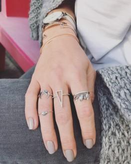 Composition bagues femme tendances argent 925 - Bijoux créateurs x Madame Vedette