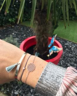 Composition bracelets femme argent 925 arabesque - Bijoux créateur Madame Vedette