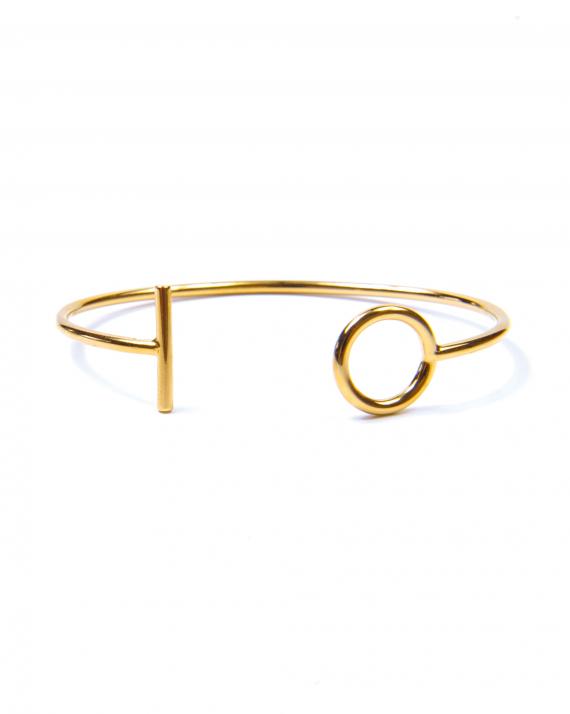 Bracelet jonc plaqué or pour femme - Bijoux de créateur au meilleur prix - Madame Vedette