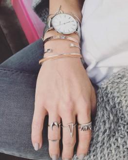Composition bracelet jonc argent 925 tendance pour femme - Bijoux créateur Madame Vedette