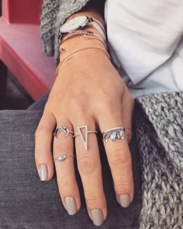 Nouveauté accumulation bagues femme argent 925 - Bijoux de créatrice - Madame Vedette