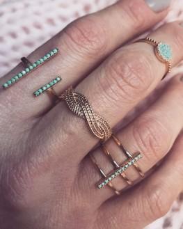 Composition de bagues pour femme en plaqué or vue sur Instagram - Bijoux de créateurs - Madame Vedette