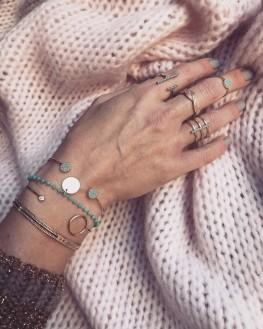 Acheter composition bracelet jonc ouvert plaqué or tendance femme - Bijoux Madame Vedette