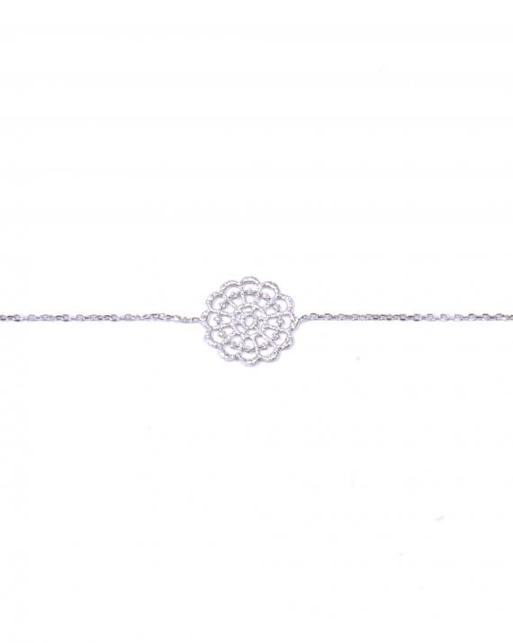 Bracelet chaîne argent 925 arabesque femme -  Bijoux créateur Madame Vedette