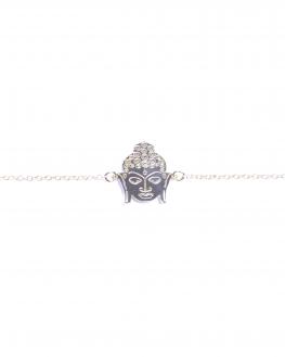 Nouveauté tendance bracelet femme chaîne argent 925 tête bouddha - Bijoux de créateur - Madame Vedette