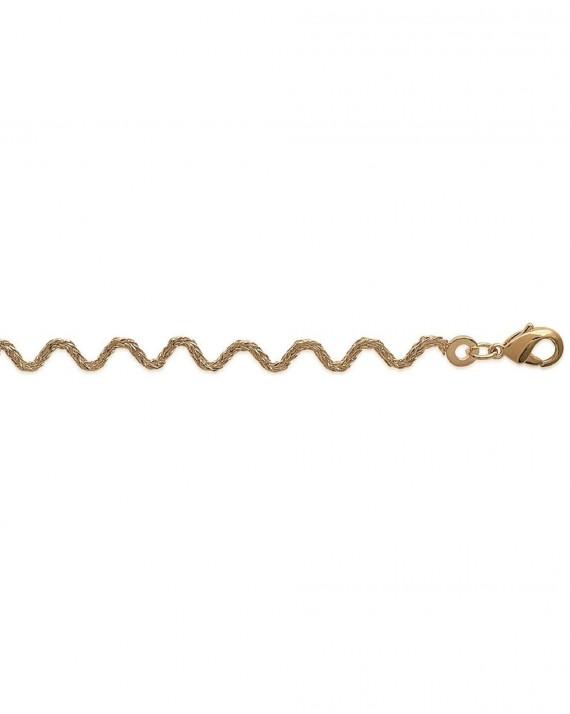 Nouveauté bracelet femme plaqué or maille fantaisie - Bijoux de créateur - Madame Vedette