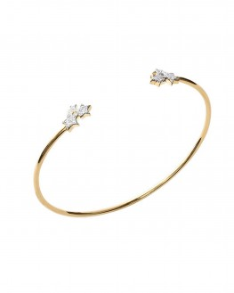 Bracelet jonc ouvert en plaqué or pour femme - Bijoux créateur - Madame Vedette