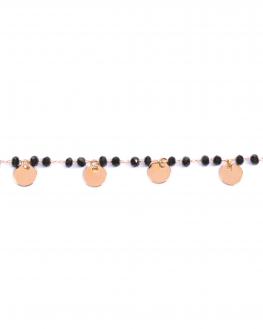 Bracelet chaîne plaqué or rose perles et pampilles médailles pour femme - Bijoux créateurs fantaisie - Madame Vedette