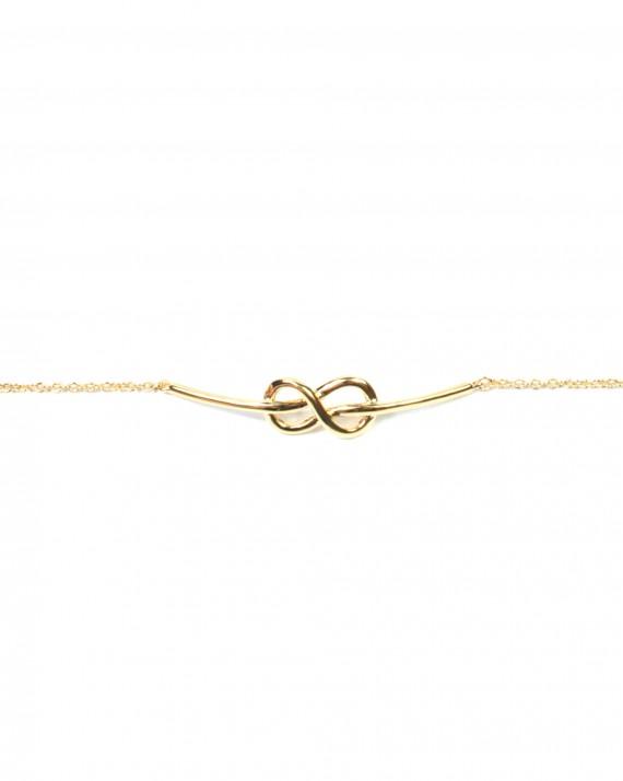 Bracelet chaîne infini entrelacé en plaqué or - Création de bijoux - Madame Vedette