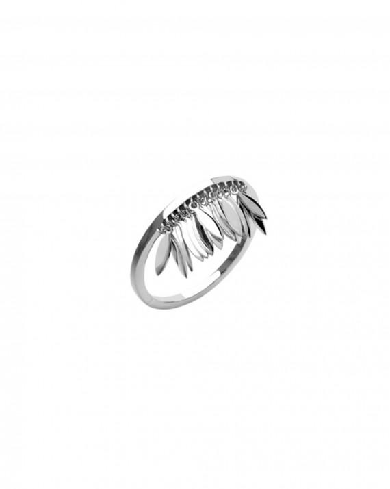 Acheter bague femme pétales argent 925 - Bijoux de créateur tendance - Madame Vedette