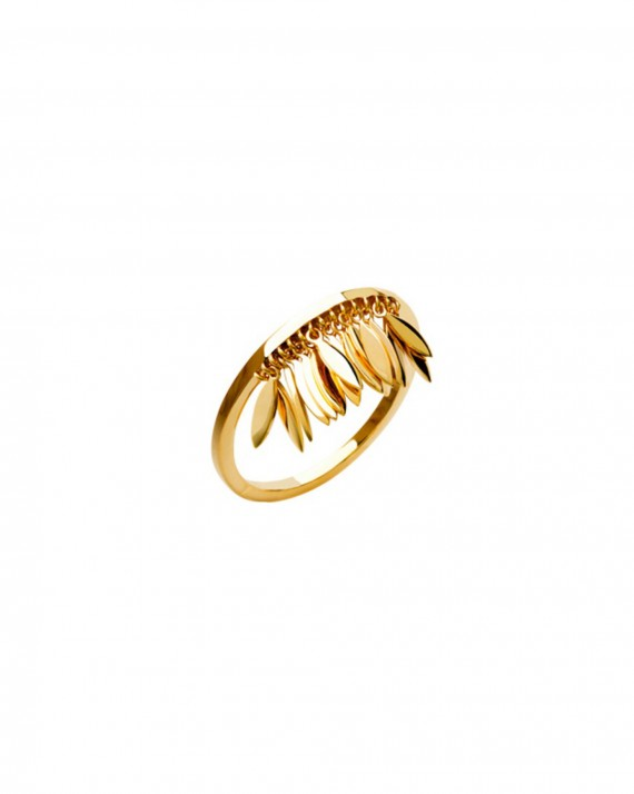 Bague tendance pétales plaqué or - Bijoux créateur femme - Madame Vedette