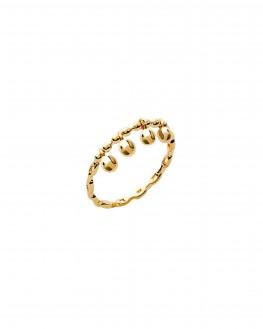 Bague plaqué or perles pampilles - Bijoux créateur tendance pour femme - Madame Vedette