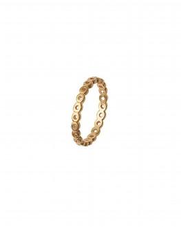 Bague fine ajourée plaqué or - Bijoux créateur femme - Madame Vedette