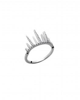 Bague rock griffes brillants tendance argent 925 - Bijoux créateur femme - Madame Vedette