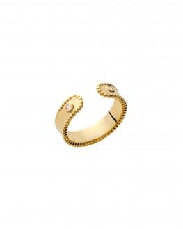 Acheter bague femme ouverte plaqué or et brillants - Bijoux créateur Instagram - Madame Vedette