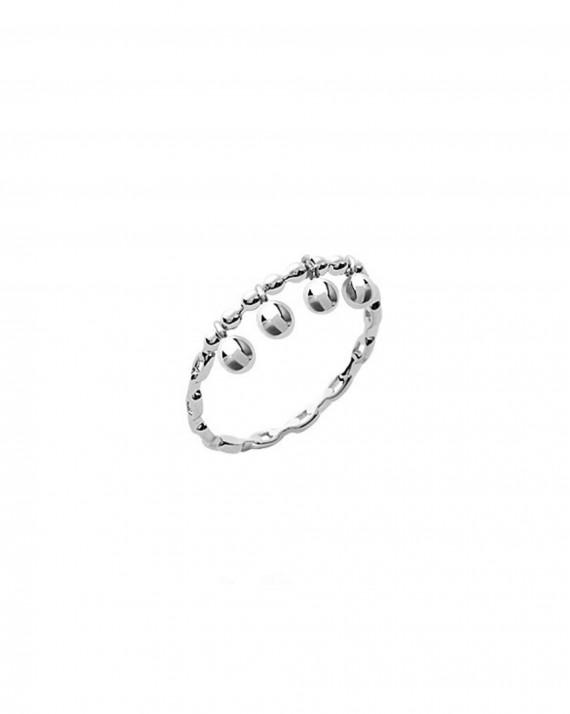 Acheter bague femme tendance en argent 925 et pampilles boules - Bijoux créateur Instagram - Madame Vedette