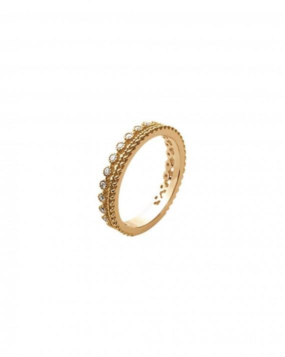 Bague fine plaqué or pour habiller délicatement vos doigts - Bijoux créateur - Madame Vedette