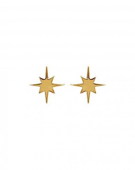 Boucles d'oreilles puces étoiles plaqué or must have sur Instagram - Bijoux créateur femme x Madame Vedette