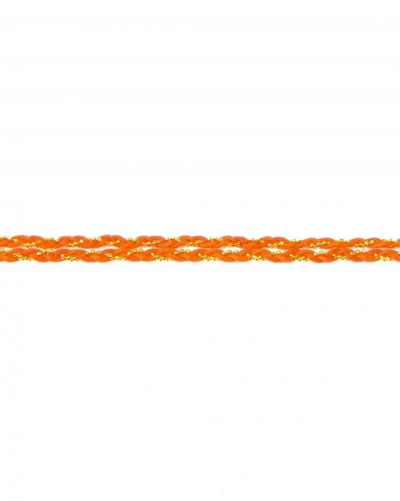 Bracelet chaîne plaqué or et cordon tressés - Madame Vedette